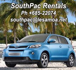 Car hire Samoa
